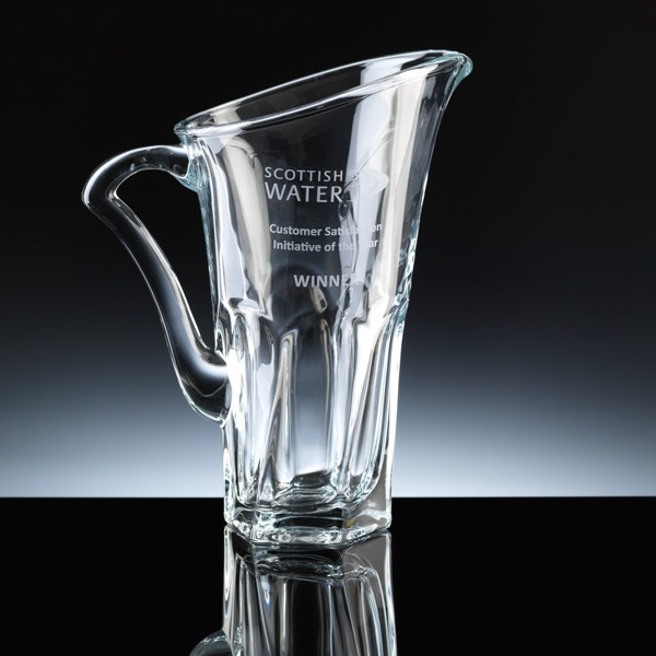 Crystal Water Jug, engraved for Water Company.