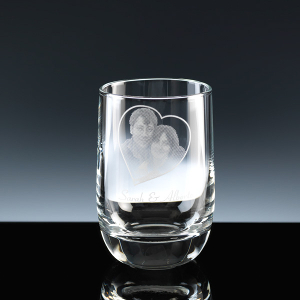 Loto Shot Glass, printed in frost colour for a Wedding Favour.