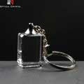 Optical Crystal Key Ring, engraved for Promotional Gift.